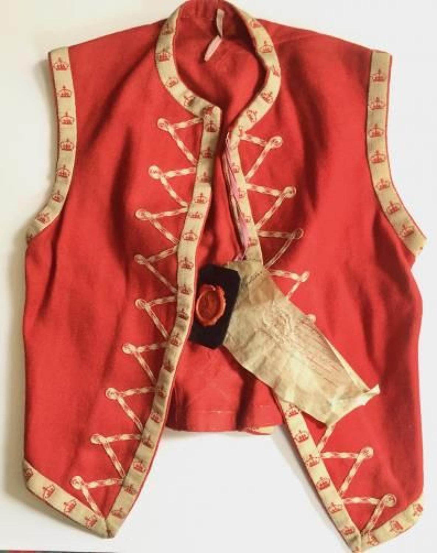 West India Regiment Drummer's Zouave Jacket Sealed Pattern.