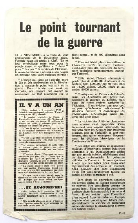 WW2 RAF Propaganda Leaflet 1943