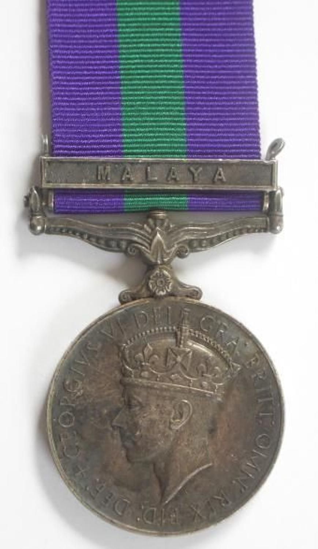 Federation of Malayan Police General Service Medal, Clasp Malaya Unusu