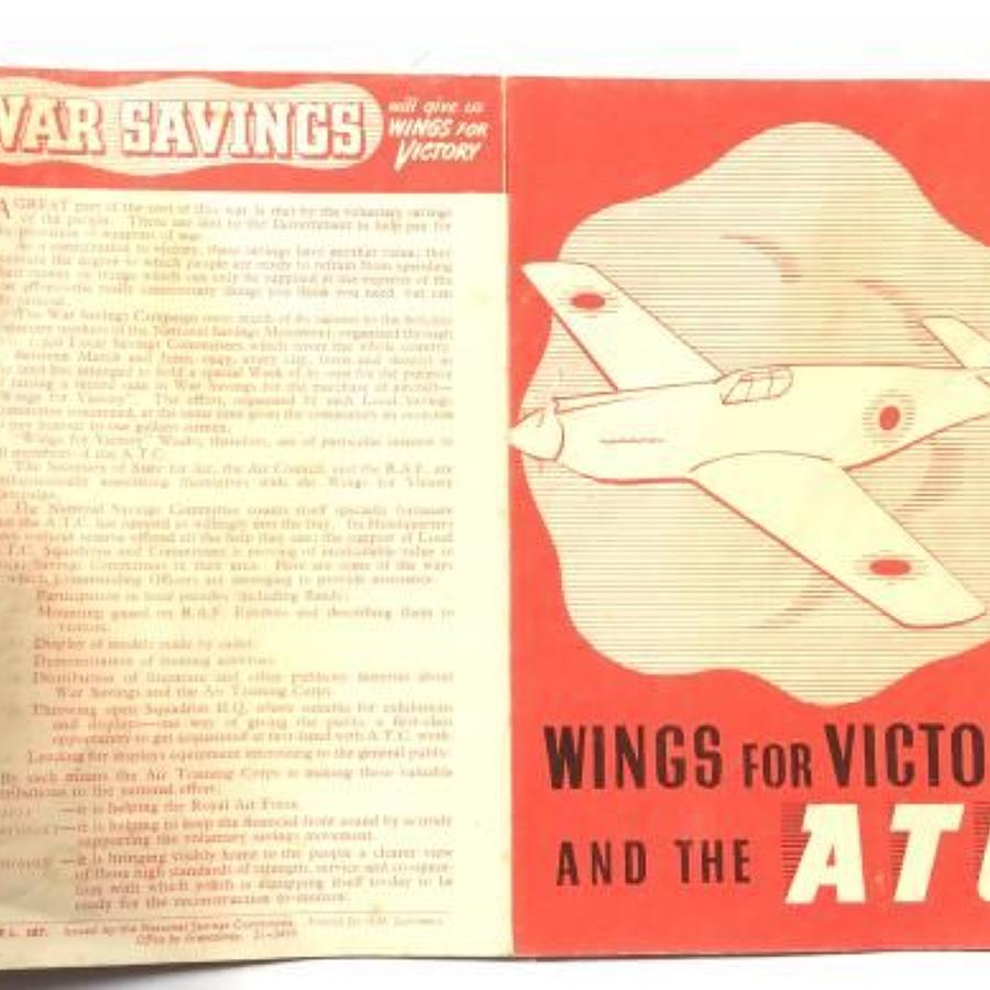 WW2 Period Air Training Corps Wings For Victory Leaflet