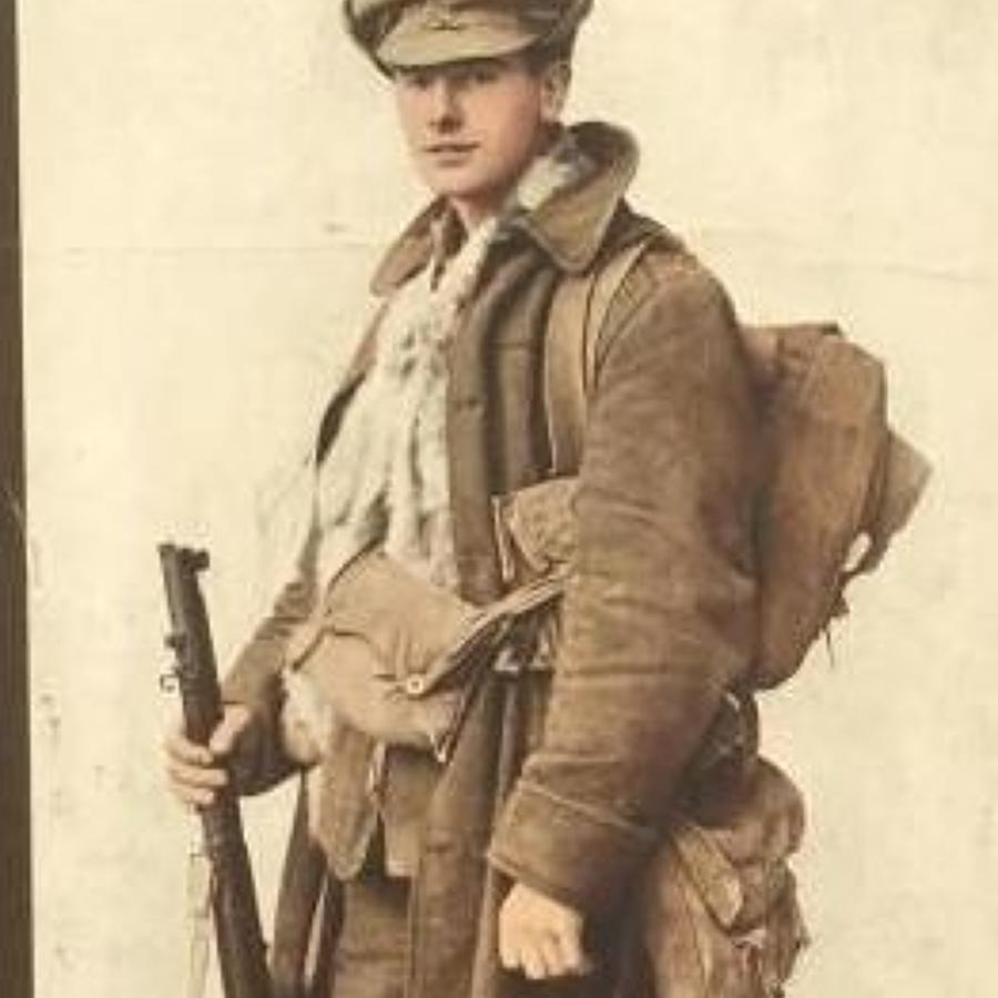 WW1 British Tommy Circa 1915 Photograph Print.