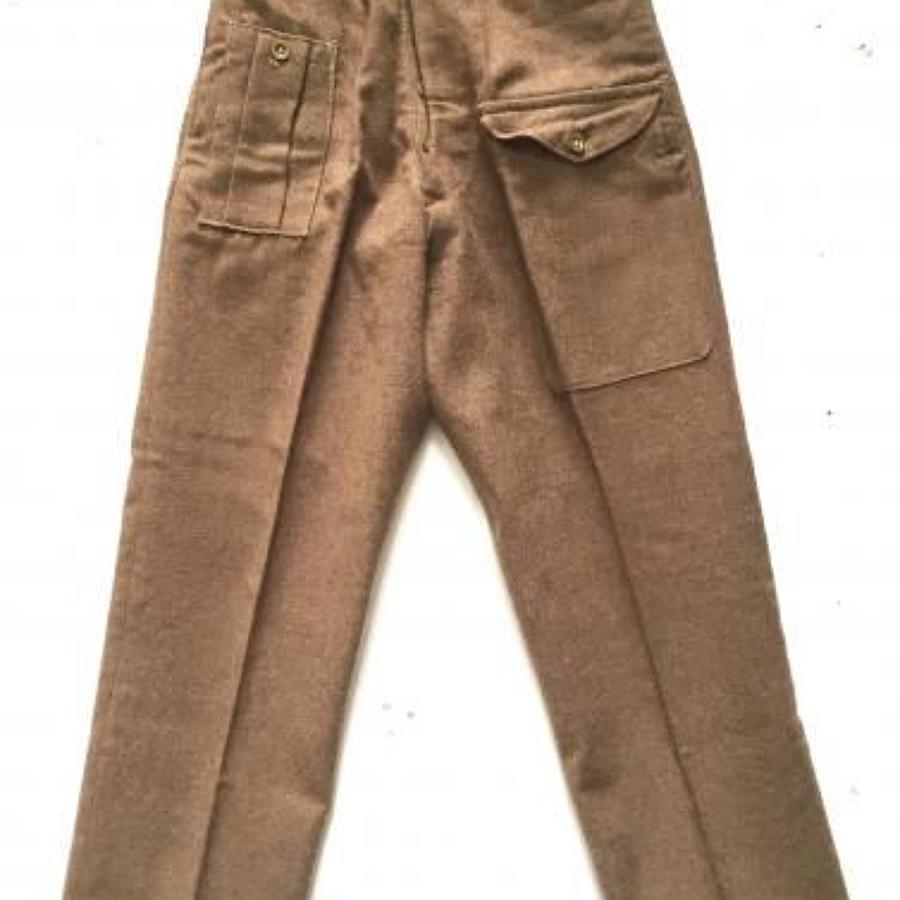 1946 Pattern British Army Battledress Trousers.