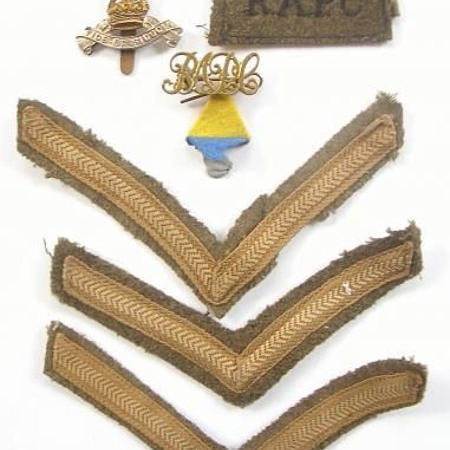WW2 Royal Army Pay Corps Battledress Uniform Badges.