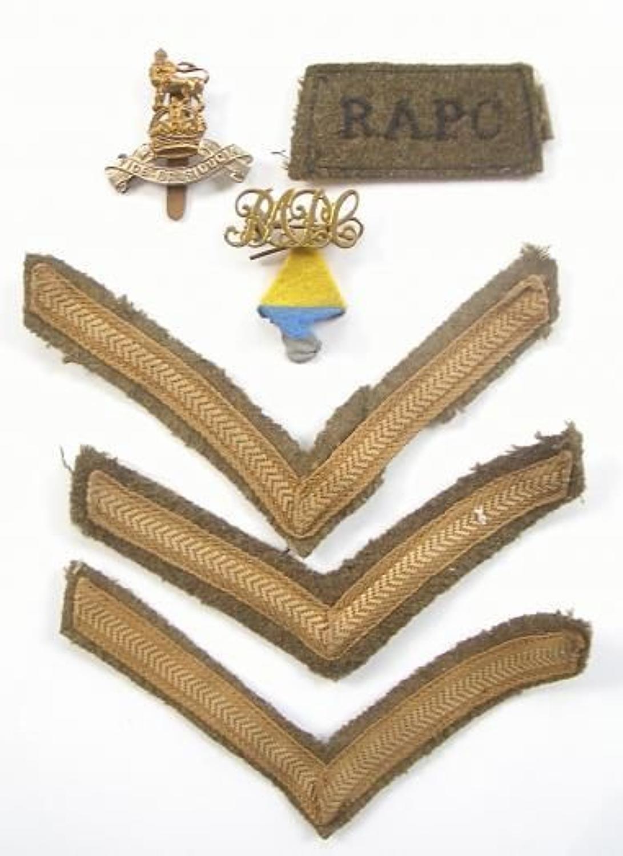 WW2 Royal Army Pay Corps Battledress Uniform Badges.