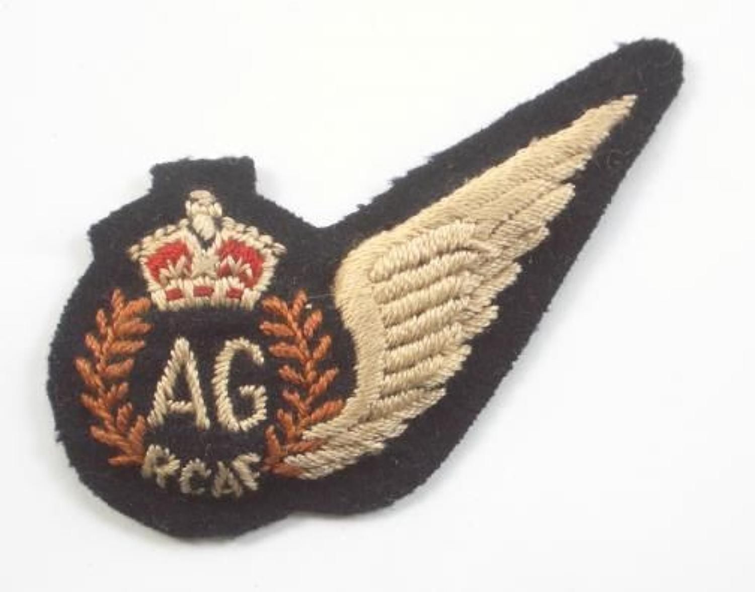 WW2 RCAF Air Gunner Brevet Wing