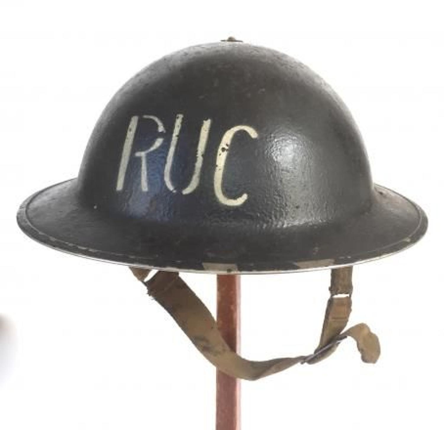 WW2 Royal Ulster Constabulary 1940 Dated Helmet.