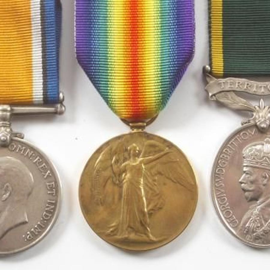 Devonshire Regiment & 7th BN London Regiment Group of Three Medals.