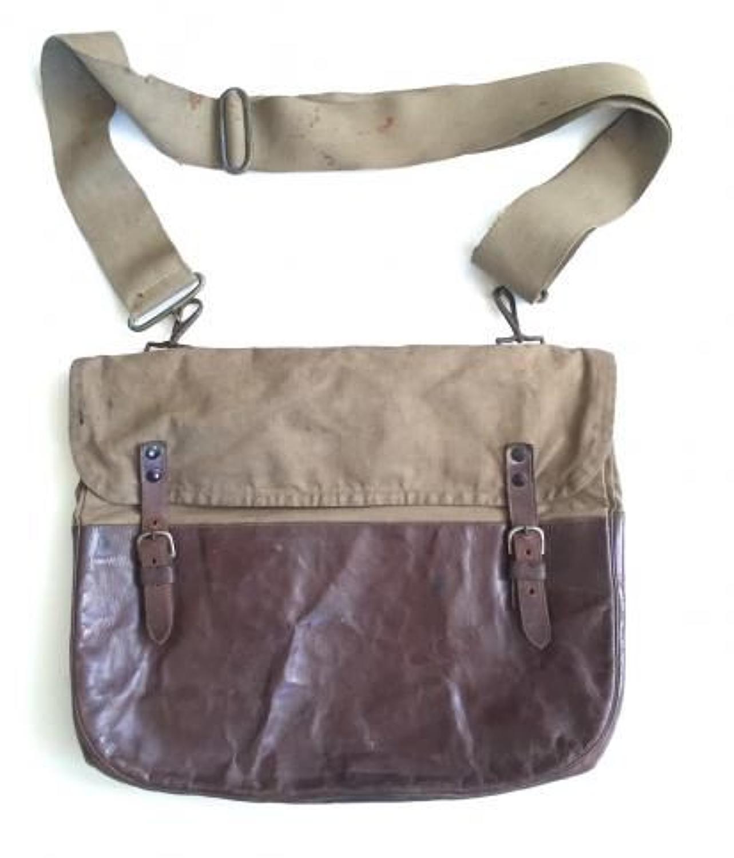 WW1 Pattern Canvas & Leather Side Bag.