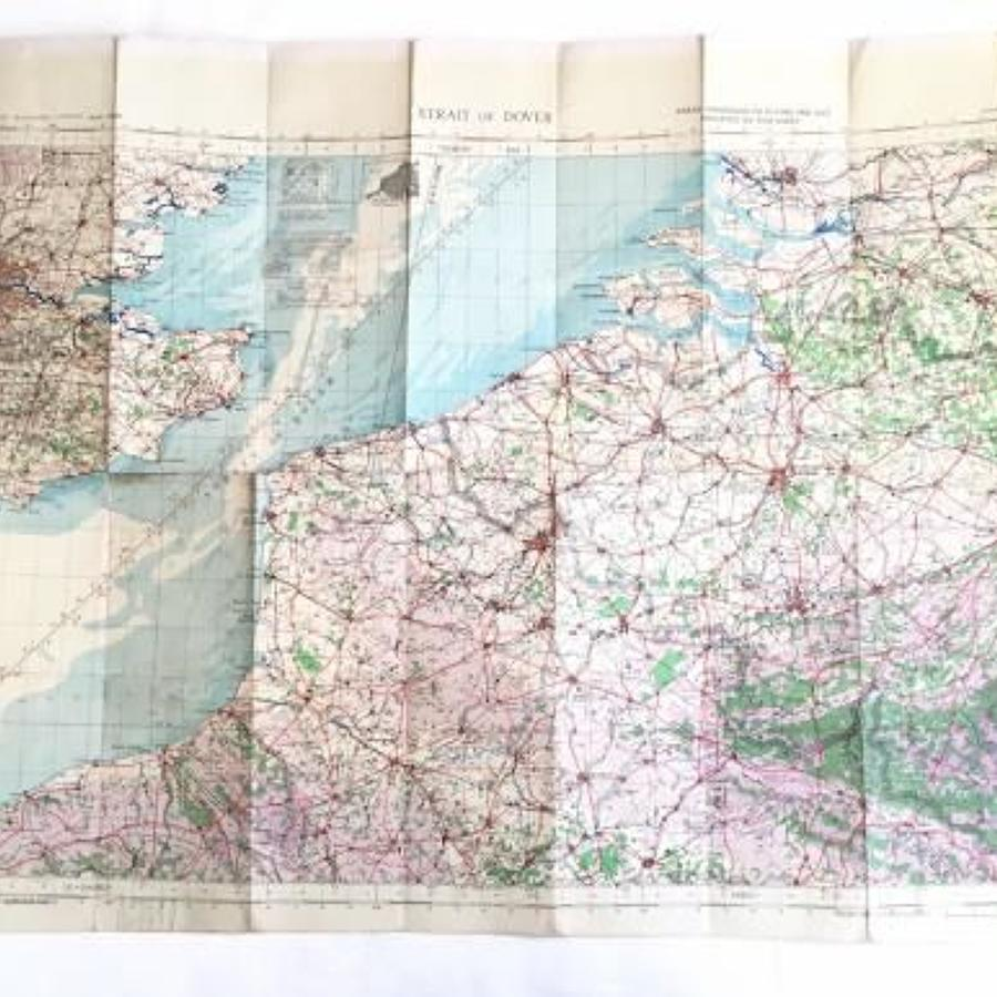 WW2 RAF 1943 Flying Map of