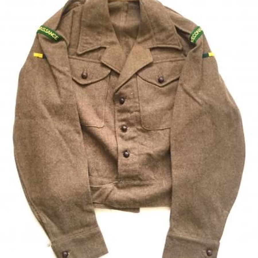 WW2 1945 Reconnaissance Corps Officer's Battledress Blouse.