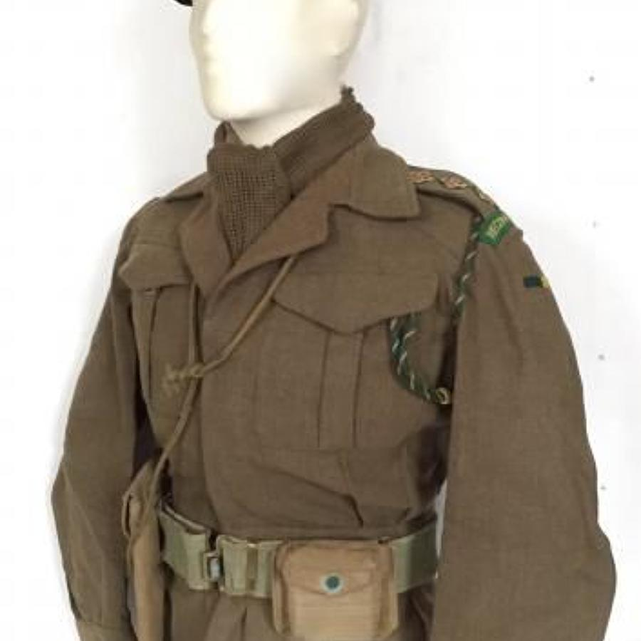 WW2 Period Reconnaissance Corps Officer's Battledress Uniform.