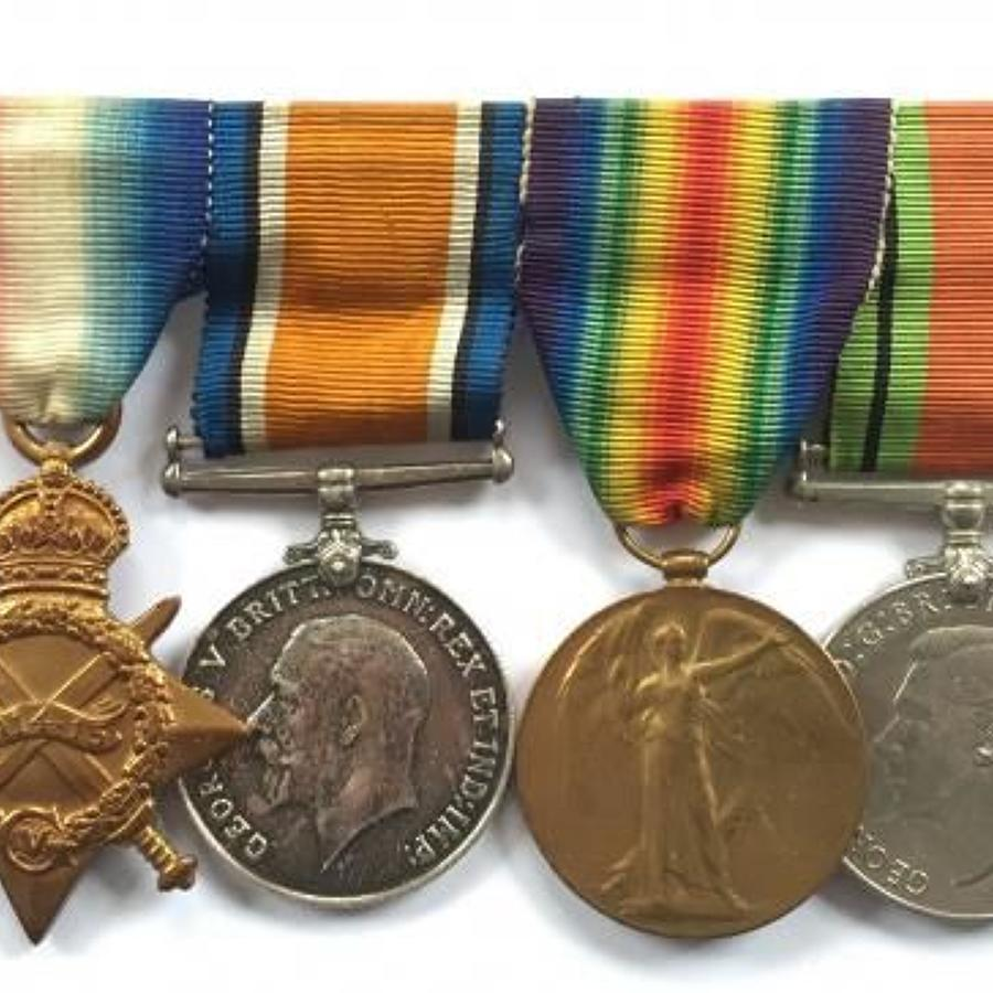 WW1 2nd Life Guards Group of Four Medals.