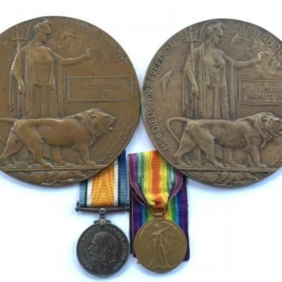 WW1 16th Bn (The Birkenhead Bantams) Cheshire Regt Family Medals