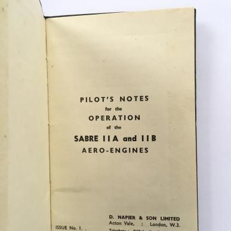 1945 Hawker Typhoon and Hawker Tempest Napier Sabre Engine Notes.