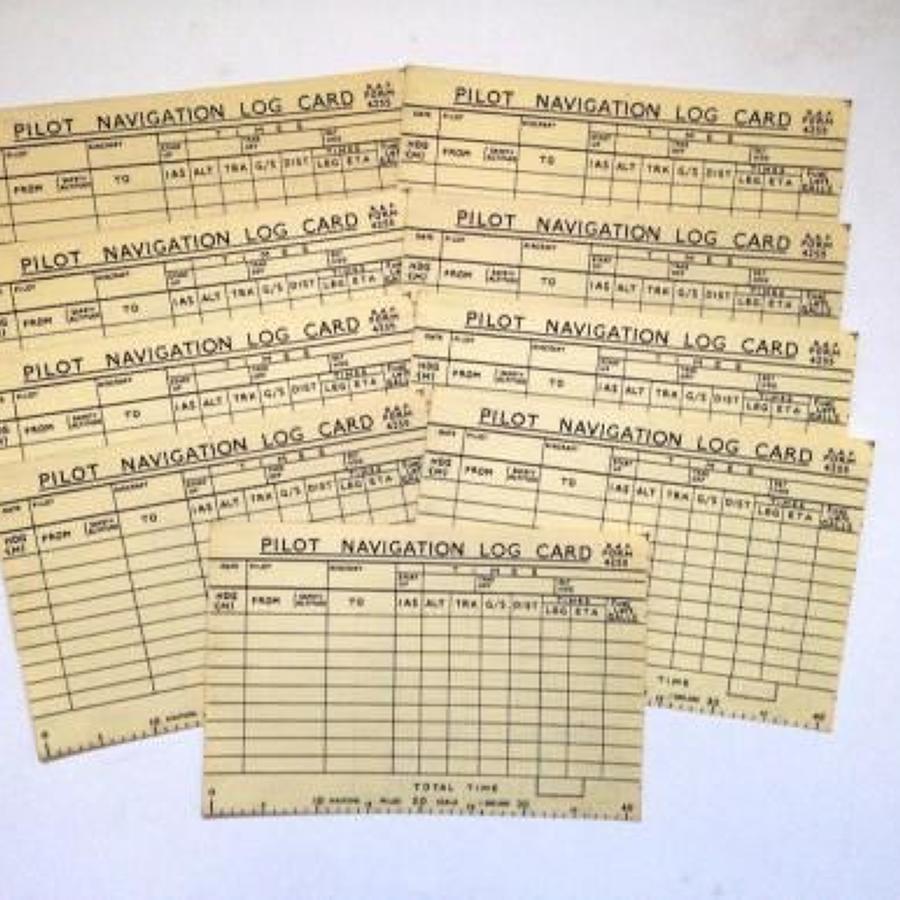RAF Form 4255 Pilot Navigation Log Card.