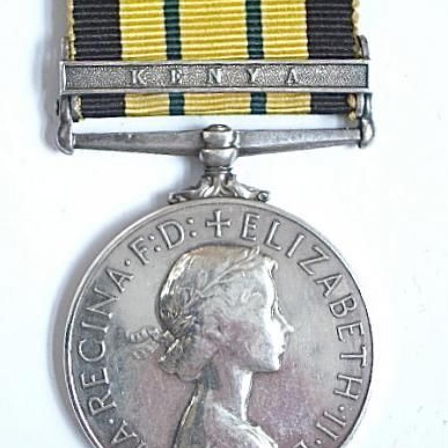 REME Africa General Service Medal Clasp Kenya.