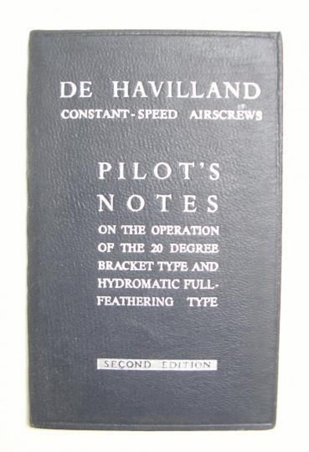 RAF De Havilland Airscrew Pilots Notes.