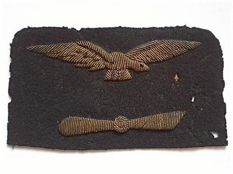 WW1 Royal Naval Air Service RNAS scarce Engineer's sleeve badge.