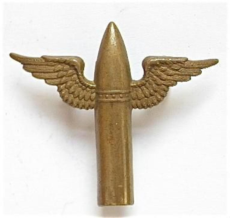 RAF Air Gunner's 1923-39 winged bullet brass arm badge.