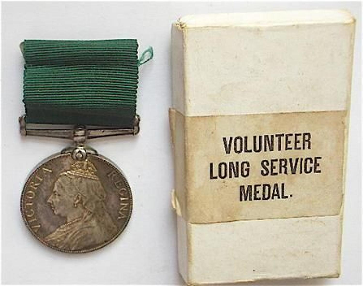 Victorian Volunteer Long Service Medal & Original Box.