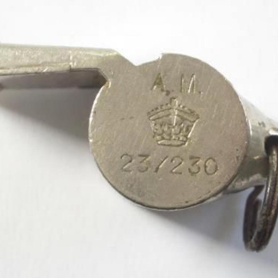 WW2 Original RAF Aircrew Escape Whistle