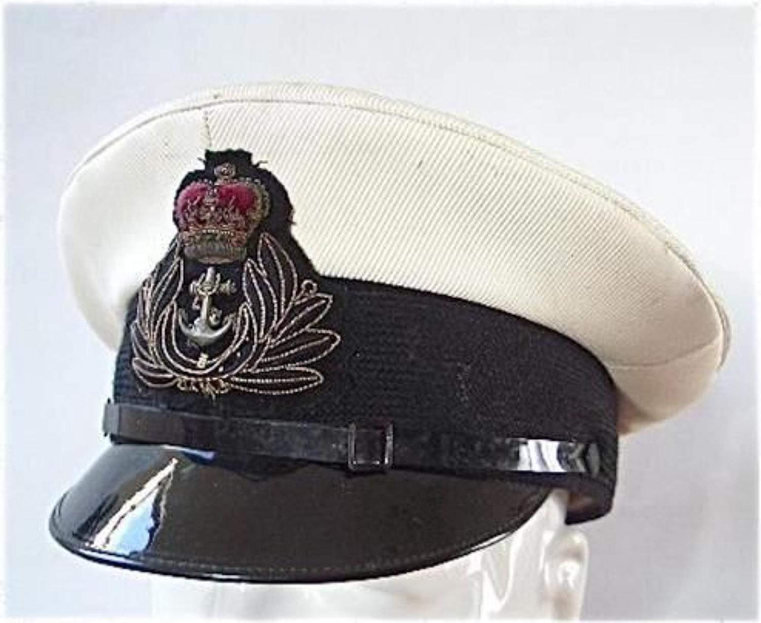 Royal Navy Chaplains Department Officers Cap.