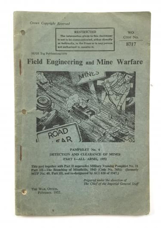 British Army Cold War Period Field Engineering & Mine Warfare Manuel.
