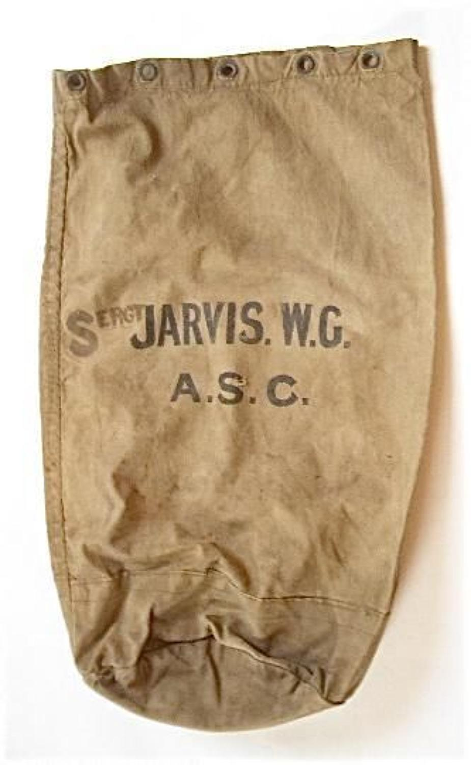 WW1 Army Service Corps Soldiers Kit Bag.