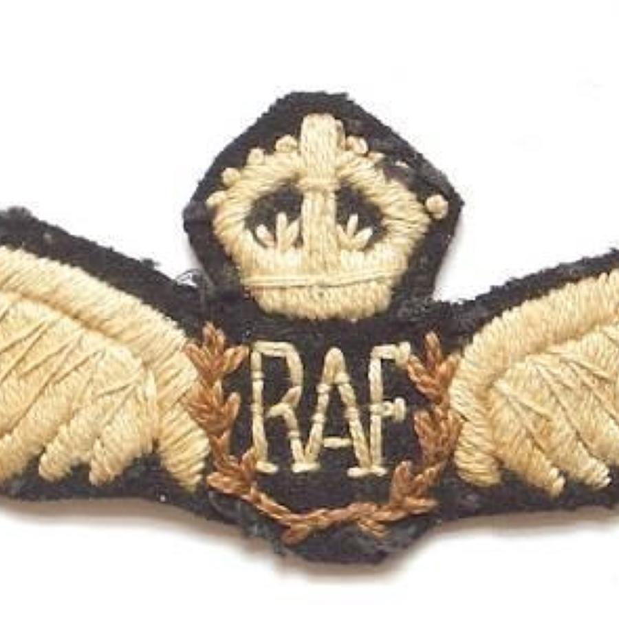 RAF North West Frontier Interwar Pilots Wings.