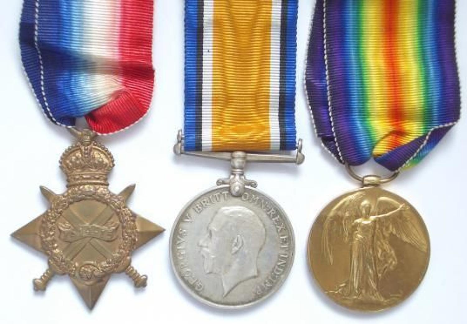 WW1 5th Battalion Wiltshire Regiment Gallipoli Casualty Group of Medal
