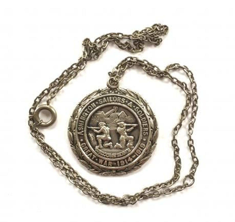 WW1 Ashington Sailors & Soldiers Tribute Medal.