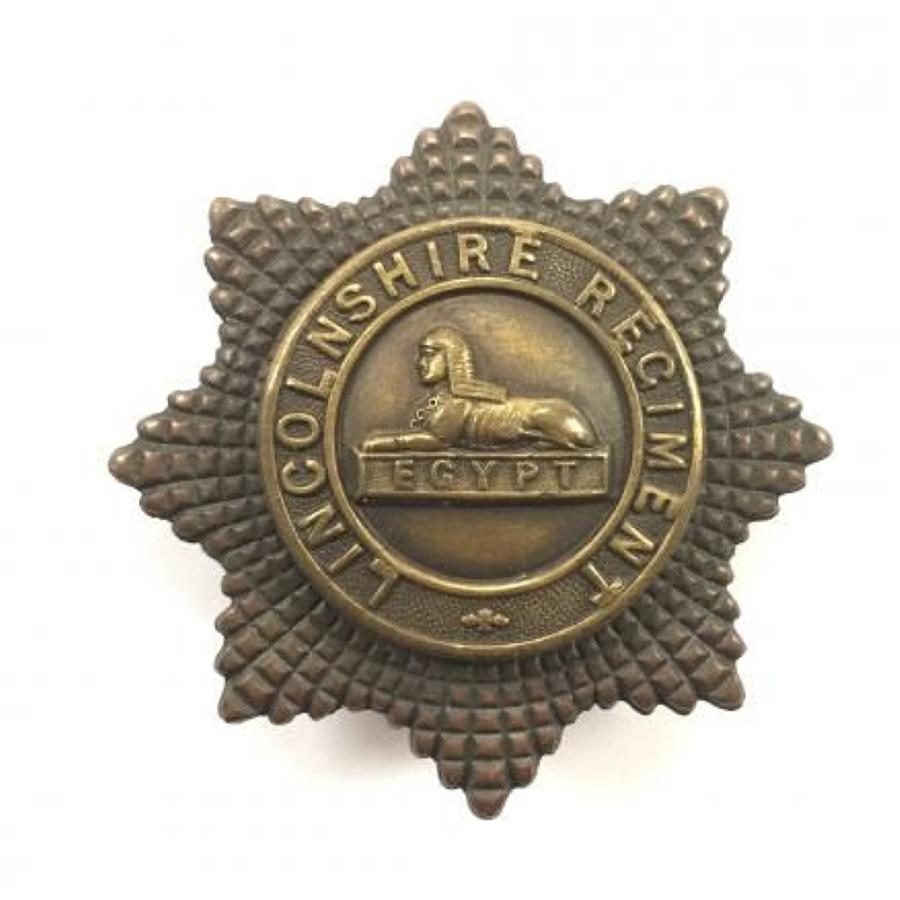 Lincolnshire Regiment Officer's OSD Bronze Cap Badge.