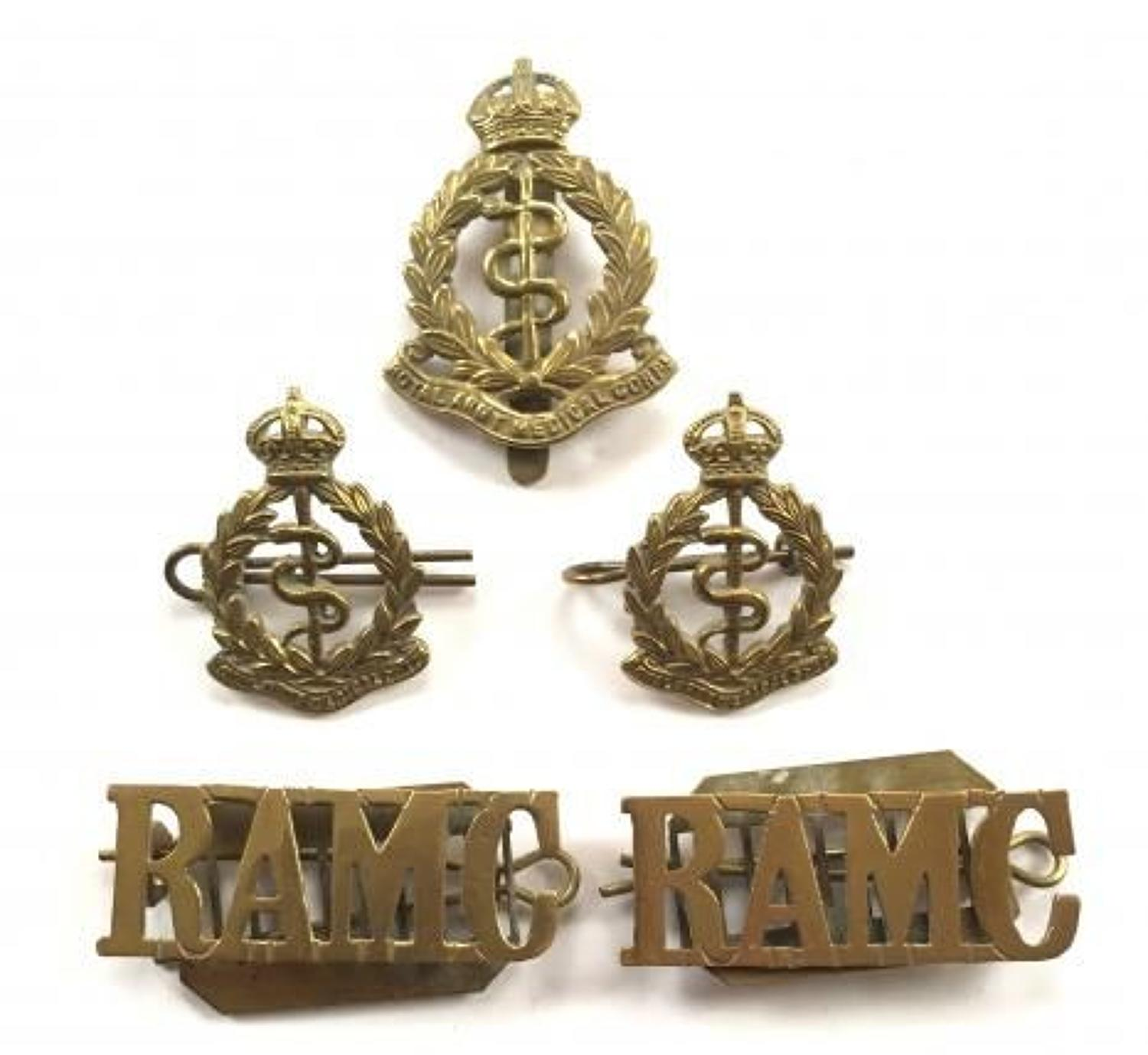 WW1 Period RAMC Royal Army Medical Corps Badges.