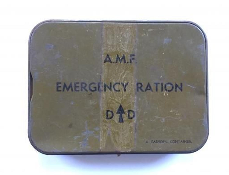 WW2 Australian Military Forces Emergency Ration Tin.