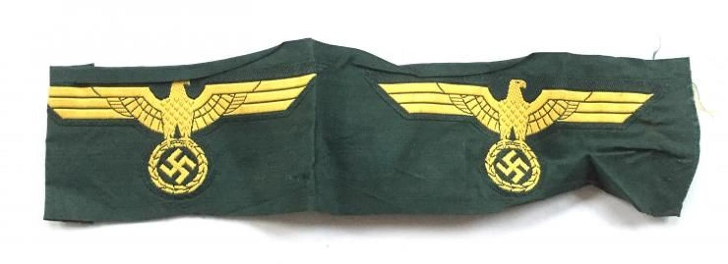 WW2 German Kriegsmairne Costal Artillery Uncut / Marine Breast Eagle B