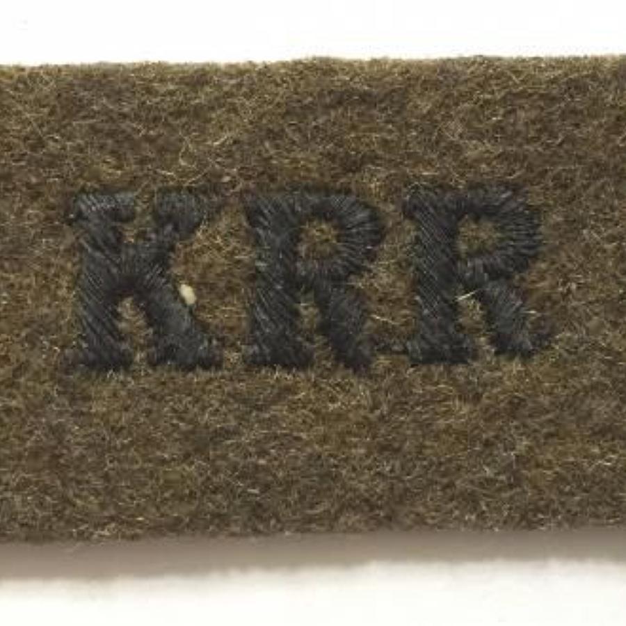 Early WW2 KRR King's Royal Rifles