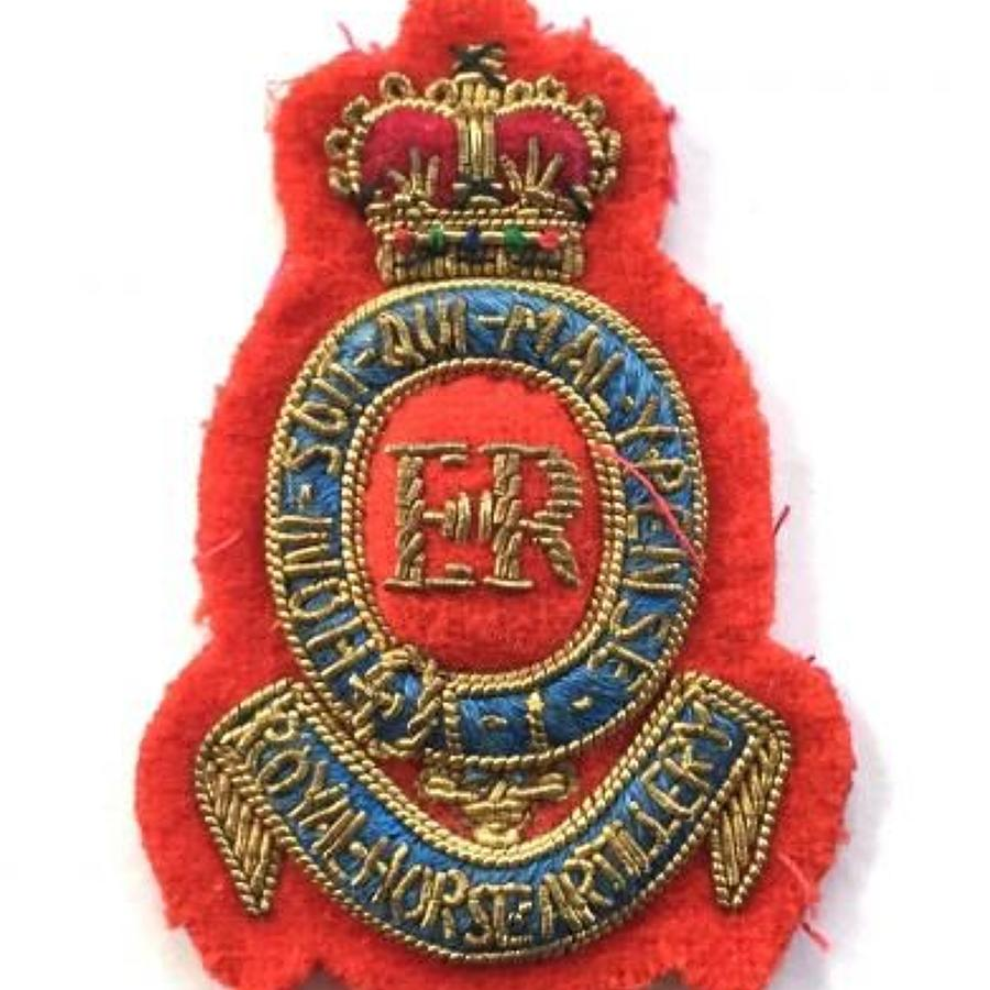 Royal Horse Artillery EIIR Officer's Beret Badge.