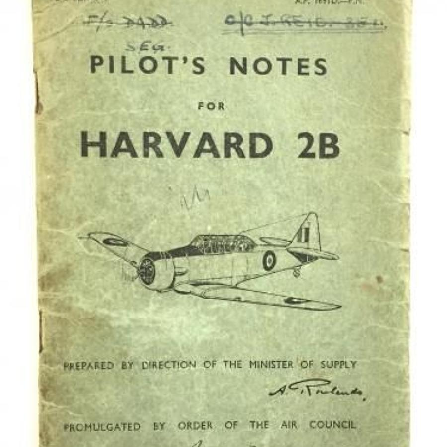 WW2 Period Original Pilots Notes Harvard 2B.