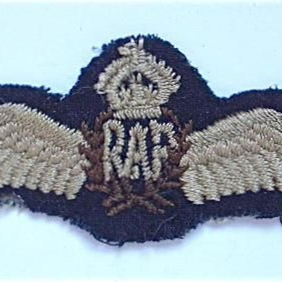 WW2 RAF Pilot's Wings.