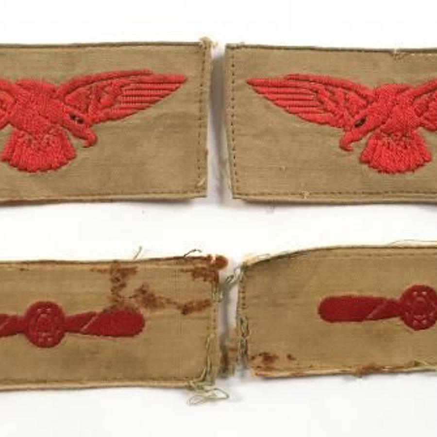 WW2 RAF LAC Khaki Drill KD Sleeve Cloth Badges.