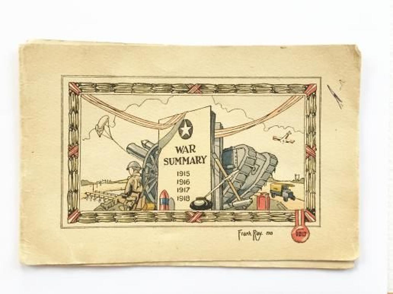 WW1 1918 British Army Christmas Card.