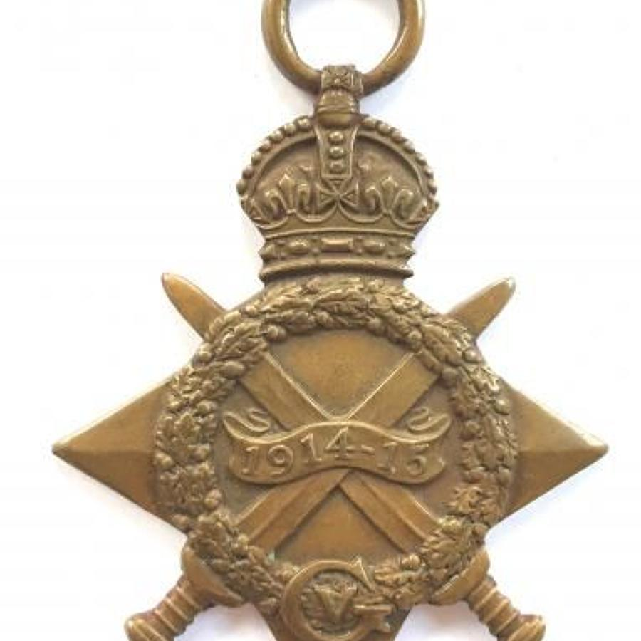 WW1 2nd Bn East Kent Regiment Casualty 1914/15 Star.