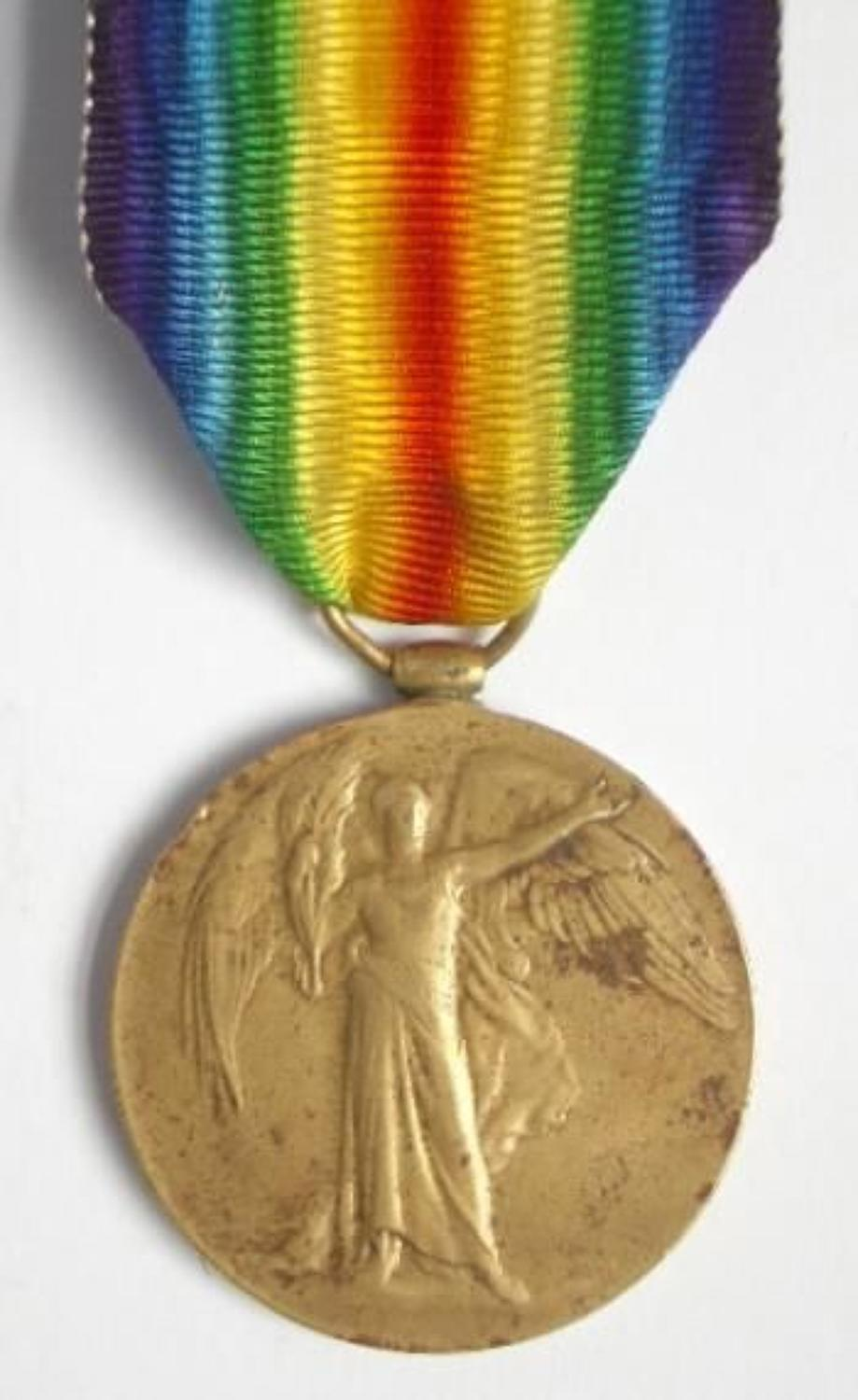 WW1 Manchester Regiment Victory Medal.