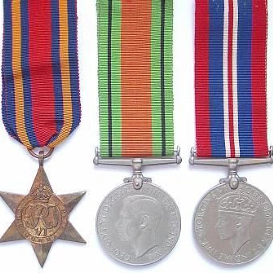 WW2 REME Territorial Army Group of Five Medals.