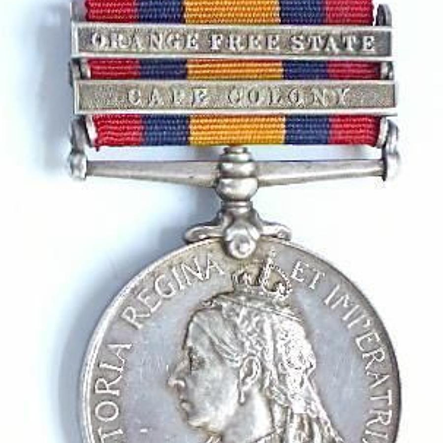 South African Constabulary Boer War Queen's South Africa Medal