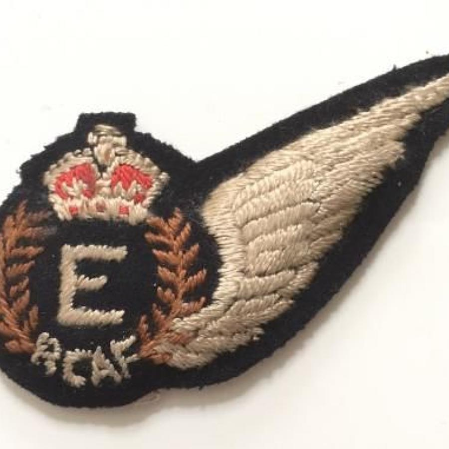 WW2 Royal Canadian Air Force RCAF Engineer (E) brevet.