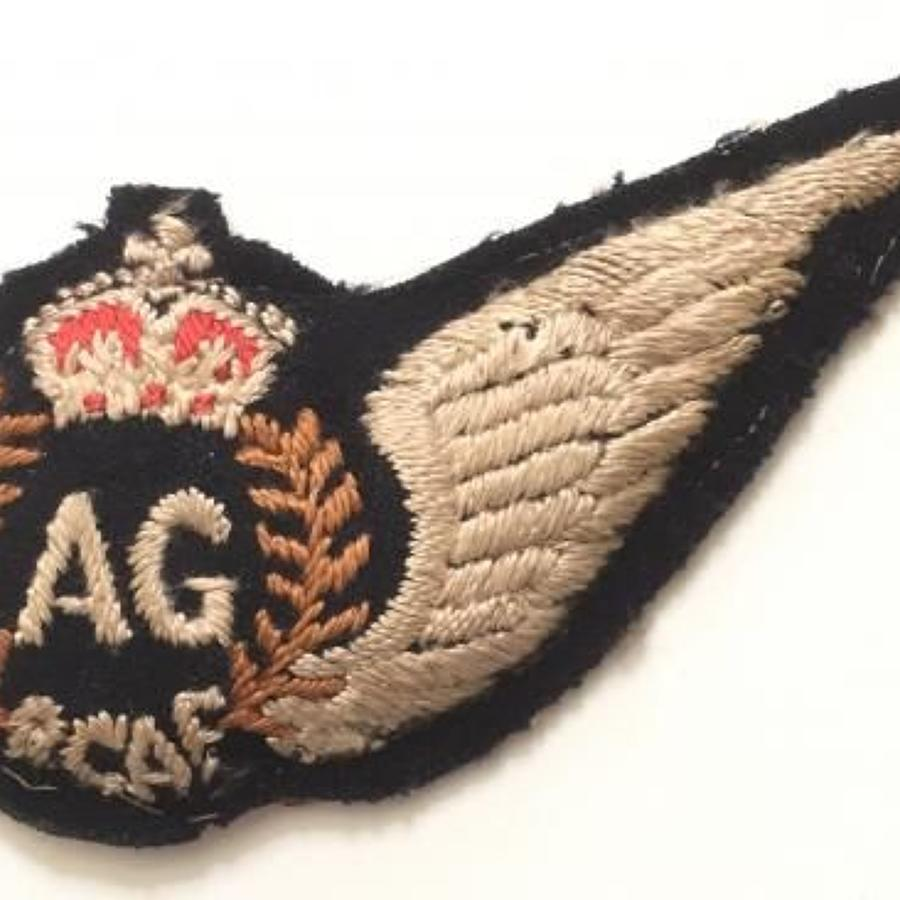 WW2 Royal Canadian Air Force RCAF Air Gunner (AG) brevet.