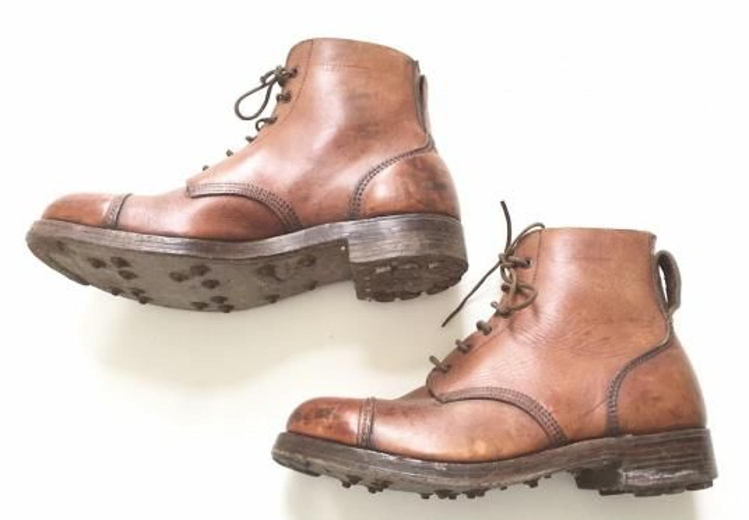 WW2 1943 Pattern Jungle Boots 1944 Dated War Department Issue .