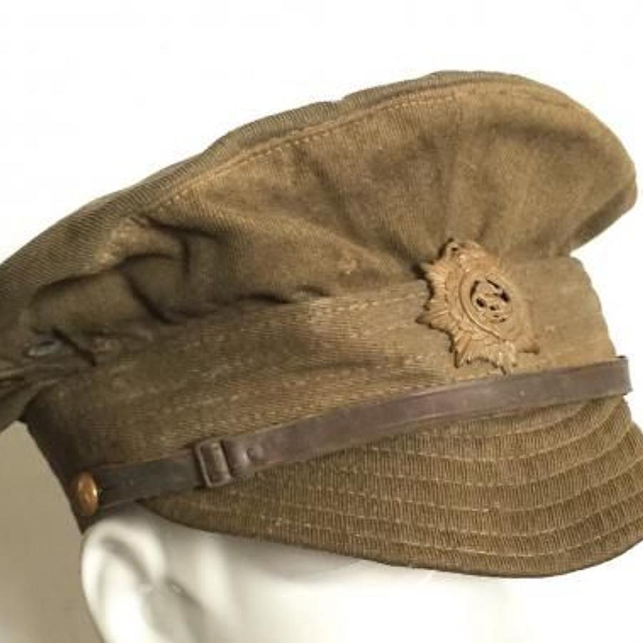 WW1 Army Service Corps Other Rank's Denim Trench Cap.
