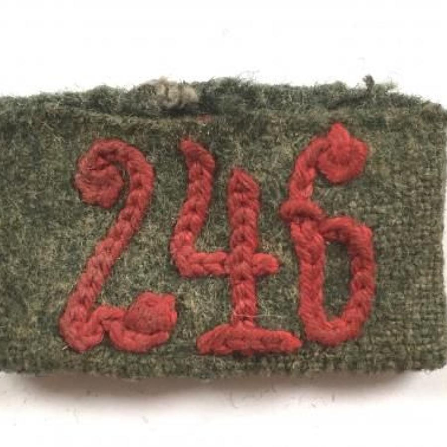WW2 German Army Slip on Regimental Number 246